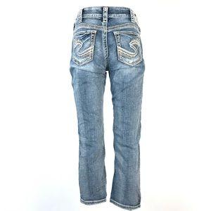 Silver Suki Mid Capri Jeans 31 Blue